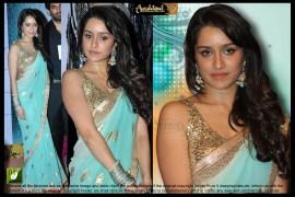 shraddha kapoor blue saree in n aashiqui 2