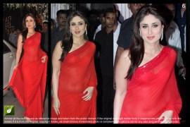 kareena kapoor red chiffon saree online