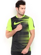 Nike Black Neon printed Tshirts