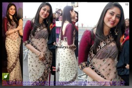 Kareena Kapoor Off White Bollywood Replica Saree