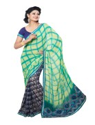 SHAILY GEORGETTE PRINTED SAREE WITH EMBRODERY