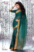Aura Anika Cotton Saree and Unstiched Blouse