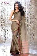 Aura Asin Cotton Saree and Unstiched Blouse