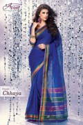 Aura Chayya Cotton Saree and Unstiched Blouse