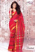 Aura Chahat Cotton Saree and Unstiched Blouse