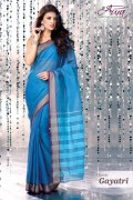 Aura Gayatri Cotton Saree and Unstiched Blouse