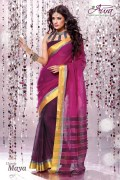 Aura Maya Cotton Saree and Unstiched Blouse