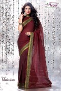 Aura Malvika Cotton Saree and Unstiched Blouse