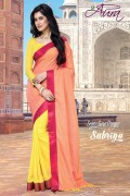 Aura Sabrina Cotton Saree and Unstiched Blouse