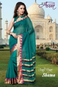 Aura Shama Cotton Saree and Unstiched Blouse