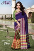 Aura Tania Cotton Saree and Unstiched Blouse