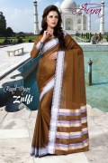Aura Zulfi Cotton Saree and Unstiched Blouse