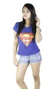 V neck superman T shirt