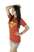Red superman T shirt