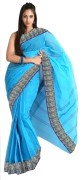 Sky blue tant saree