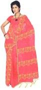 pink patola sari