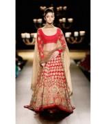Heavy Bridal Party wear Designer Red Lehenga Choli