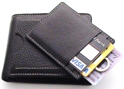 Men's Leather wallet 100% pure leather with credit card holder