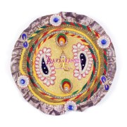 Aarav Collection Auspicious Vinayak Fancy Work Pooja Thali