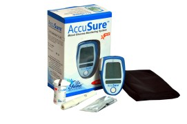 Dr. Gene Accu Sure Glucometer with 25 strips free (Strips expiry 3/2016)