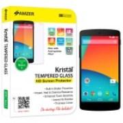 Amzer Crystal Tempe Glass HD Screen Protector for Google Nexus 5 D820, LG Nexus 5 D820 - 96748