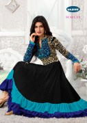Blue Georgette Embroidered Designer anarkali Suit