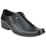 Kazume Slip-On Black Synthetic Leather Formal Shoes