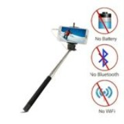Selfie Stick Monopod Wired Shutter Remote stand for All iPhone Models