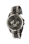 Rosra Steel & black Wrist Watch For Men 008