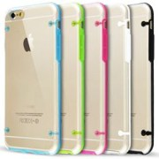 Ultra slim Back Snapon White Crystal Clear Case For iPhone 6 plus 5.5