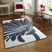 Sofiabrands white Black Floral Rugs
