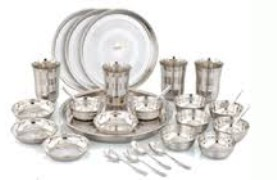 AC Stainless Steel 42 Pcs Lunch Set