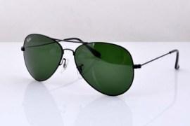 Rb3026 Aviator Style Designer Sunglasses Black Frame/green Lens