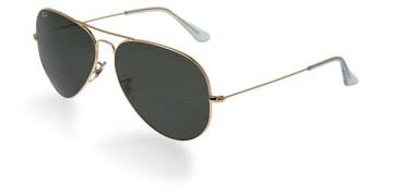 Rb3026 Aviator Style Designer Sunglasses Golden Frame/black Lens