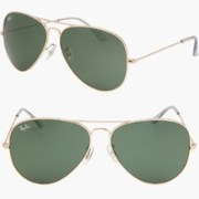 RAY BAN AVIATOR RB3026 Sunglasses - Gold green