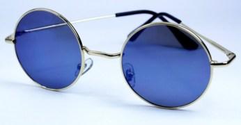 Vintage Retro John Lennon sunglasses in Mirror Blue Lens