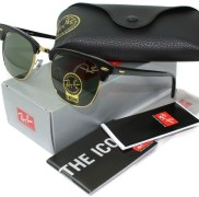 Vintage Clubmaster sunglasses in Green lens