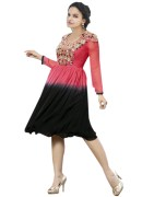 Click Sarees Pink Color Georgette Stiched Kurti.