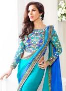 Indian Designer Sky Blue Saree