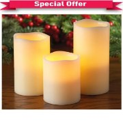 LED Candle flicker with Remote Set of 3 pcs  special offer