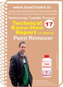 Manufacturing technology of paint remover with formula