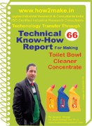 Manufacturing technology  toilet cleaner