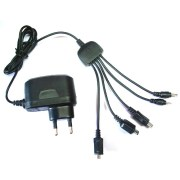 5 in 1 Multi Pin Universal Travel Charger-Mobile Phone Charger With 6 M Wrnty