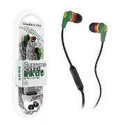 Skullcandy Inkd Rasta Green with mic T1215 High Performance And Quality Product Headset
