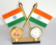 car-fleg-ganeshji-india-clock