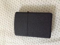 Earth Black Textured Refillable Windproof Liquid Fuel Cigarette Lighter