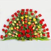 100 PREMIUM RED & YELLOW ROSES
