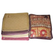 Single Saree Packing with 2.5 inches border by crazy creations