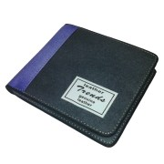 Trends Leather Wallet- Grey Blue