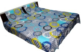 AS42 Cotton Printed Double Bedsheet(1 Bedsheet, 2 Pillow Covers, Multicolor)